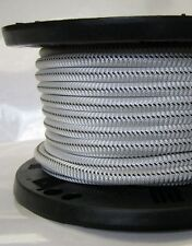 3/8″ 100 ft Bungee Shock Cord White With Black Tracer Marine Grade Heavy Duty