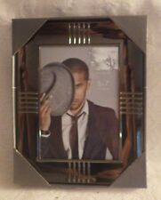 """Prinz Picture Frame Gun Metal Holds 5"""" x 7"""" Photo New"""