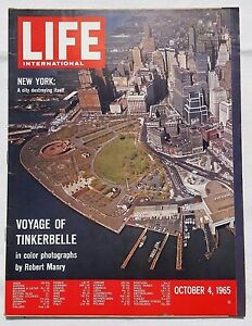 LIFE (Int'l) October 4, 1965: New York / Voyage of Tinkerbelle / Sights Gemini 5