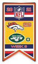 2021 Semaine 3 Bannière Broche NFL Denver Vs. New York Jets Super Bol