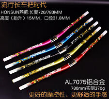 720mm HONSUN Pro AM 31.8mm MTB Bike Bicycle Bend Handlebar Riser Handle Bar