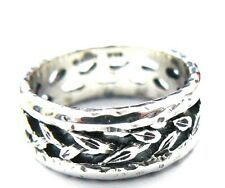 RARE! James Avery Rare Eternity Leaves Band Ring in JA Box/Pouch .925