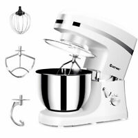Electric Food Stand Mixer 6 Speed 5.3Qt 800W Tilt-Head Stainless Steel Bowl New