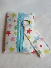 CATH KIDSTON Star fabric Pocket Tissue & Keyring Lip Balm/Lipstick holder GIFT