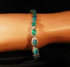 "Rarities Blue Opal & White Zircon 7-1/2"" Bracelet  Ret: $549.90"