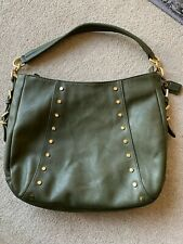 CLARKS GREEN LEATHER HANDBAGIN EXCELLENT CONDITION