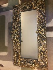"Antique Gold Gilt Mirror ""finesse Original 72�"