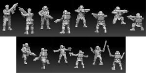Soldiers Onmioji Sci fi  28mm 32mm multi listing