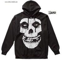 Misfits Hoodie / Official The Misfits Fiend Hooded Sweatshirt,Black,Skull,Men's
