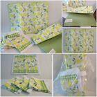 6 Pc 2 Reversible Kitchen Drying Mat 4 Wash Cloths Lemons Yellow White & Green