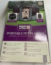 New listing Heart To Tail Portable Pet Playpen Easy Access Storage Travel Secure Folds Flat