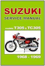 SUZUKI Workshop Manual T305 Raider & TC305 Laredo 1968 & 1969 Service & Repair