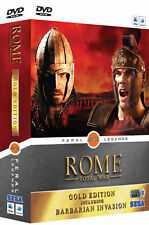 ROME: TOTAL WAR GOLD EDITION MAC 10.4 OR LATER NEW FACTORY SEALED