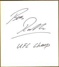 Bas Rutten Signed Shikishi Art Board BAS Beckett COA UFC Champ 18 20 Autograph