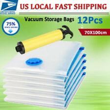 12X Jumbo VACUUM SEAL GARMENT BAGS SPACE SAVER SAVING QUILT STORAGE BAG 70*100CM