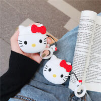 Kawaii Hello Kitty Earphone Cover for Apple Airpods Charging Case Holder Skin