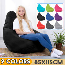 Bean Bag Chair Indoor Outdoor Cover Beanbag Lazy Lounger Sofa Seat For   #