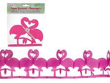 Girlande Flamingo 2m Partygirlande Papier Party Deko Pink Tropic Sommer Garten