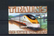 Liberia 2004 MNH Trains of World 1v S/S Railways Eurostar