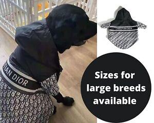 Designer Dog clothes Rain Jacket windbreaker Puppy Pet Fashion Clothing S-4XL
