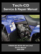 Motorcycle atv manuals literature ebay yamaha yfm400 big bear service repair manual 2000 2001 2002 2003 2004 2005 2006 fandeluxe Choice Image