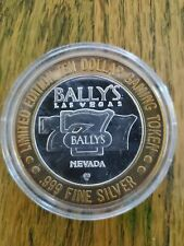 .999 Fine Silver Strike From Ballys Hotel & Casino Las Vegas Nv Running 7's 1998