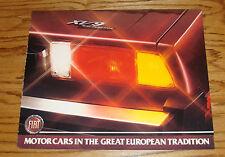 Original 1981 Fiat X 1/9 Foldout Sales Brochure 81