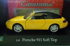 CARARAMA 1:43 AUTO DIE CAST PORSCHE 911 SOFT TOP GIALLO  ART 250