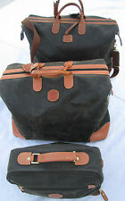 -AUTHENTIQUE Ensemble  de voyage BRIC'S cuir TBEG vintage  bag