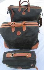 -AUTHENTIQUE Ensemble  de voyage BRIC'S cuir TBEG vintage  bag