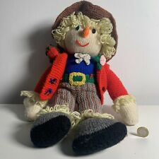 Hand Made knitted toy scarecrow Character Plush Soft Toy