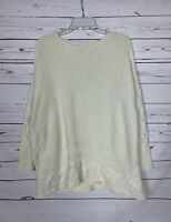 J.Jill Women's XS / S Extra Small / Small Ivory Cream Spring Sweater Tunic Top