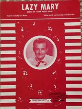 Lazy Mary 1958 NY METS 7th Inning Stretch Song Lou Monte ORIGINAL Sheet Music!