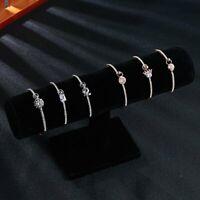 Stainless Steel Crystal CZ Heart Flower Bracelet Womens Bangle Jewelry Party New