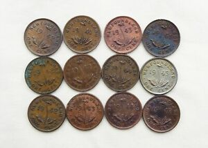 Lot of 12 Canadian  Newfoundland Cents