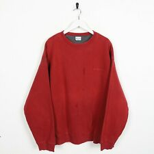 Vintage COLUMBIA Small Logo Sweatshirt Jumper Red XL