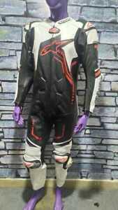 Motorbike racing suit original cowhide leather men's alpinestar riding suit