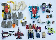 HUGE LOT G1 Transformers + Weapons Hasbro Takara Tomy Vintage Robot Toys READ