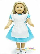 """Doll Clothes fits 18"""" American Girl Handmade Costume Alice Dress with Apron"""
