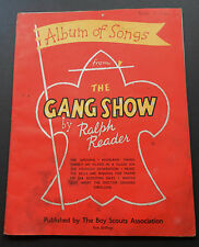 Vintage Album of Songs from the Gang Show by Ralph Reader-1958-Boy Scouts