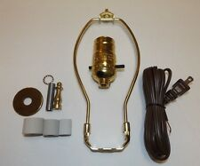 "Jug or Bottle Lamp Adaptor Kit with 8"" Harp & Finial Brass Plated NEW 30340JB"