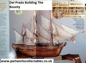 Del Prado Building The Bounty Wooden Model Ship Kit