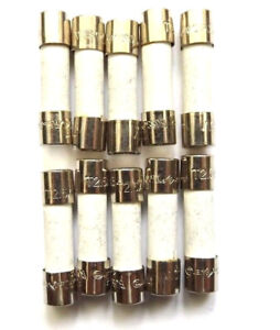 Fuse 2.5a  20mm  Anti surge T2.5a H 250v HBC Ceramic Time Delay Antisurge x10pcs