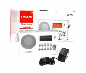 Sangean PR-D14USB FM-RBDS 64-108Mhz/AM/USB(MP3/WMA)/AUX Portable Receiver w/110V
