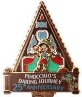 Disney Pin 61218 DLR Pinocchio's Daring Journey 25th Anniversary LE 1000