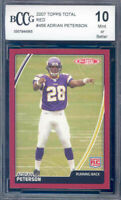 2007 topps total red #456 ADRIAN PETERSON rookie BGS BCCG 10