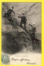 cpa de 1903 BAILLEUL Nord Frontière FRANCO-BELGE MONT NOIR Escalade en costard