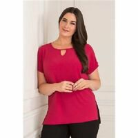 Styled By ladies Notch detail tunic top, various sizes & colours