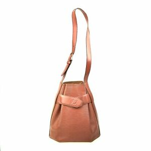 100% Authentic Louis Vuitton Epi Sac Depaule PM Brown M80203 [Used] {08-155B}