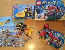 X2 Lego Sets City 7246 Mini Digger & 8057 Atlantis Boxed NO MINIFIGURES